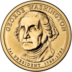 George Washington Dollar Coin transparent PNG - StickPNG