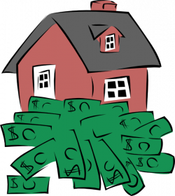 House Sitting On A Pile Of Money Clip Art at Clker.com - vector clip ...