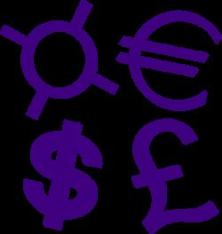 Money clipart purple - Pencil and in color money clipart purple