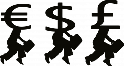 Clipart - Money People Silhouette