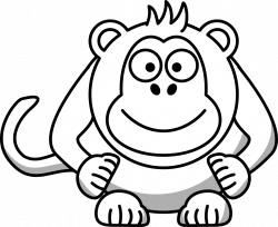 Monkey Clip Art Black And White | Clipart Panda - Free Clipart Images