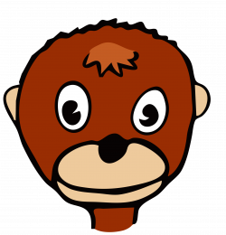 Clipart - drawn monkey
