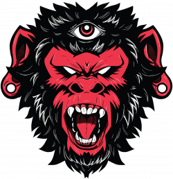 Demon Monkey vector illustration / t shirt design | Tattoo ...