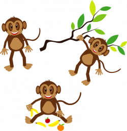 80+ Free Monkey Clipart Black And White Images 【2018】