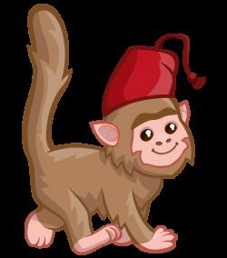 Monkey Drawing Hat Clip art - Hand-painted cartoon cute monkey ...