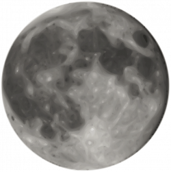 OnlineLabels Clip Art - Full Moon