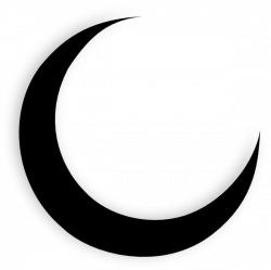Crescent Moon Clipart Black And White | Clipart Panda - Free Clipart ...