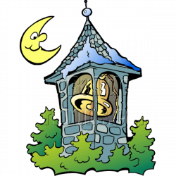 Christmas Bell Tower with Moon