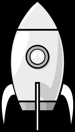 A Moon Rocket Black White | Clipart Panda - Free Clipart Images