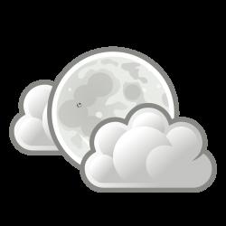 Clipart - tango weather few clouds night