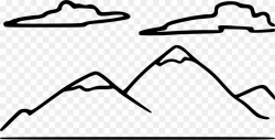 Mountain Black And White PNG Drawing Clipart download - 2400 ...