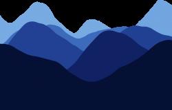 Clipart - Mountains Silhouette By Linnaea Mallette