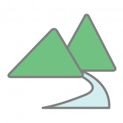 Mountain | river | Free icon | Free clip art | Illustration material