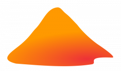 Volcano And Mountains Clipart