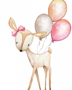 Boho Deer With Balloons Beach Towel for Sale by Pink Forest Cafe