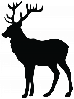 Stag Silhouette PNG Transparent Clip Art Image | Tattoo | Pinterest ...