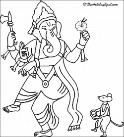Ganesh Drawing Outline at GetDrawings.com | Free for personal use ...