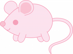 Cute Pink Mouse Clipart