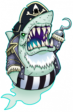 Ghostly Shark Pirate by curtsibling on DeviantArt