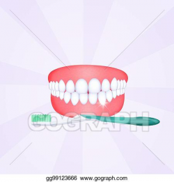 Clipart - Mouth with clean teeth. Stock Illustration ...