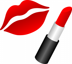 Red Lipstick and lips drawing free image