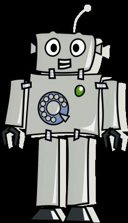 Clipart - Answerphone Robot