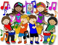 Clip Art~ Joyful Noise Music Kids with Instruments | TpT