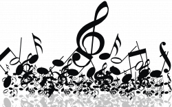 Music Notes clipart music concert - Pencil and in color music notes ...