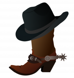 Clipart - Cowboy Boot and Hat