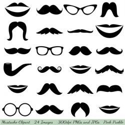 Mustache clip art, Glasses clip art, Lips Clipart Cli ...