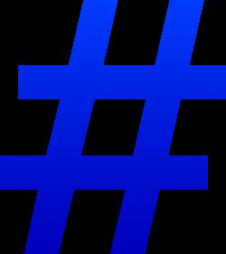 Blue Number Symbol - Free Clip Art