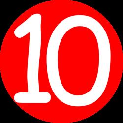 Number Ten Clipart - Clip Art Library