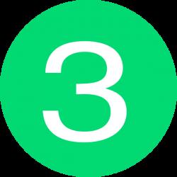 Number 3 Button Green Clip Art at Clker.com - vector clip art online ...