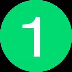 Number 1 Button Green Clip Art at Clker.com - vector clip art online ...