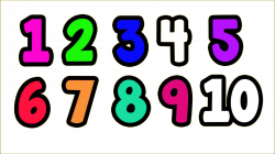 1 to 10 Numbers PNG Transparent Images | PNG All