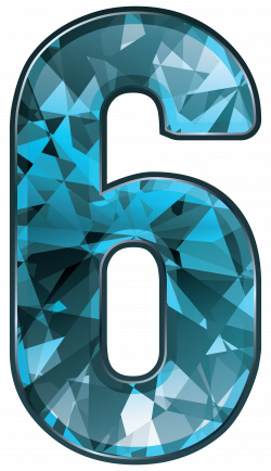Blue Crystal Number Six PNG Clipart Image | Gallery Yopriceville ...