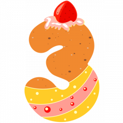 Sweet Number Three PNG Clipart Image | number | Pinterest | Clipart ...