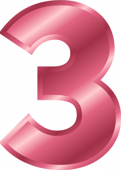 28+ Collection of Pink Number 3 Clipart   High quality, free ...