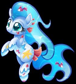 Sea Breeze, an aquatic beach loving OC My Little Pony by Centchi ...