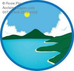 Clip Art Illustration Of An Ocean Scene