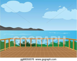 Vector Illustration - Sea view. EPS Clipart gg66055076 - GoGraph
