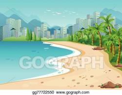 Vector Illustration - Ocean view. Stock Clip Art gg77722550 ...