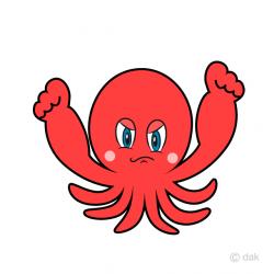 Angry Octopus Cartoon Free Picture|Illustoon