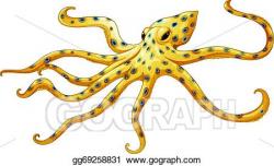 Vector Art - Blue-ringed octopus. EPS clipart gg69258831 ...