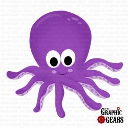 Cute Baby Octopus Clip Art N2 free image