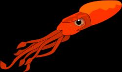 Octopus clipart squid - Pencil and in color octopus clipart squid