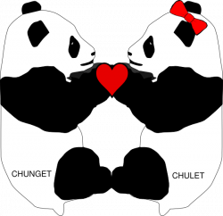 Panda Love Clip Art at Clker.com - vector clip art online, royalty ...