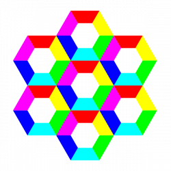 half hexagon fun Clipart | Clipart Panda - Free Clipart Images