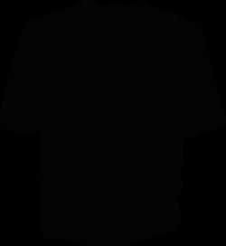 T Shirt Template Black Clip Art at Clker.com - vector clip art ...