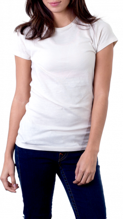 Girl Wearing T-Shirt | Isolated Stock Photo by noBACKS.com